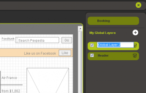 Image of how to create a new layer for a Pidoco prototype to speed up the interface design process.