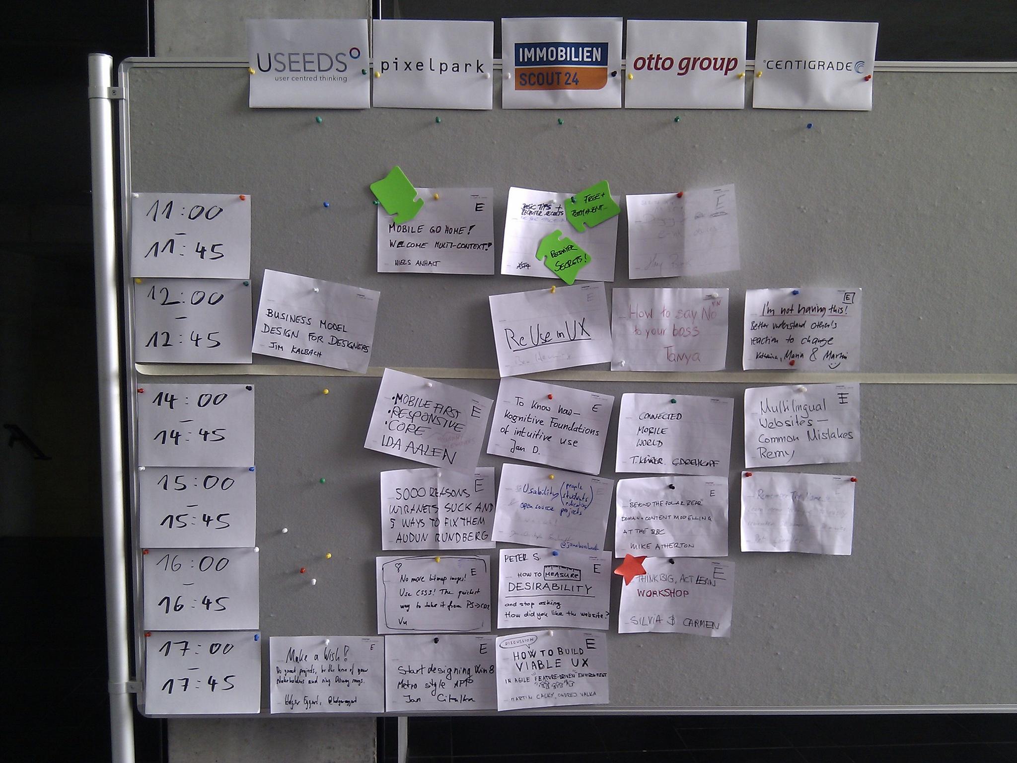UX Seminar Noticeboard