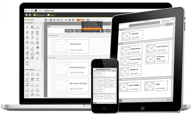 Pidoco - The Rapid Prototyping Tool for Web and Mobile
