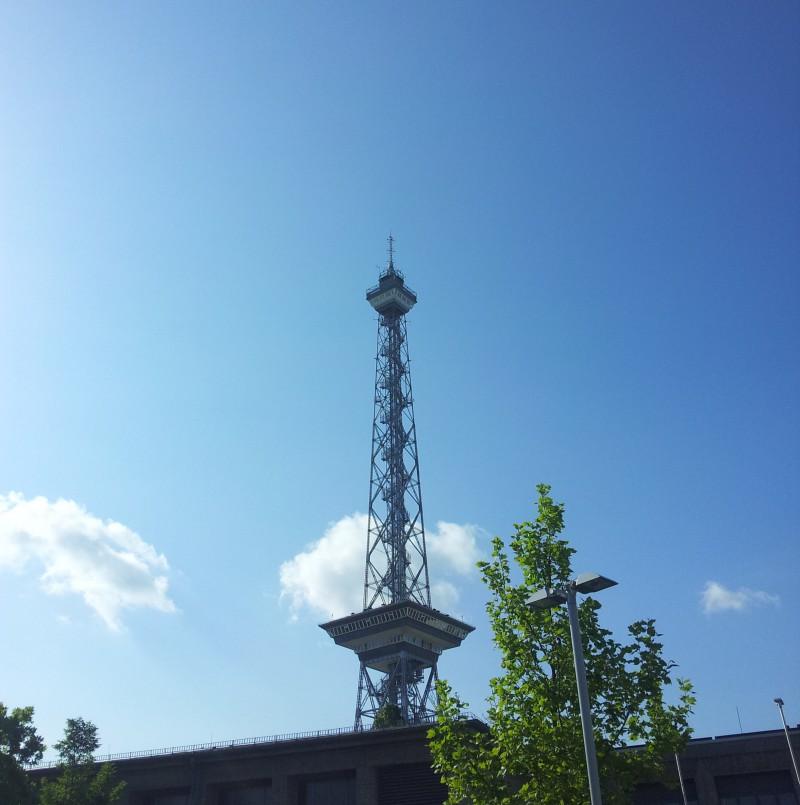Berlin Funkturm next to ExpoCity Center in Berlin