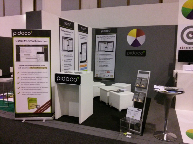 Pidoco's booth at tools Expo + Conference 2014