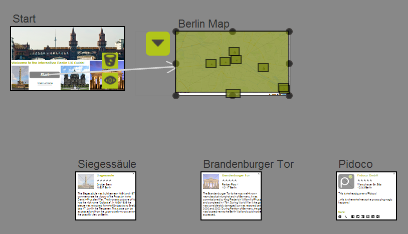 "Screenflow of ""Berlin UX Guide"""