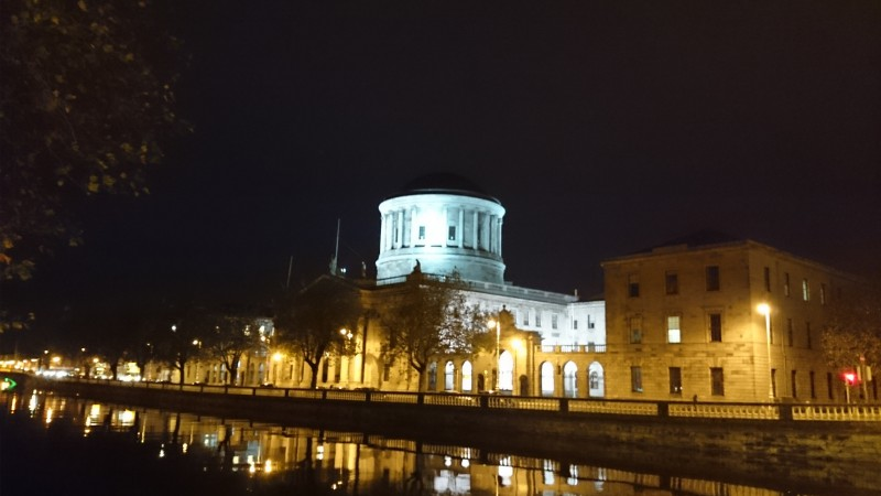 Dublin at night - The Four Courts.