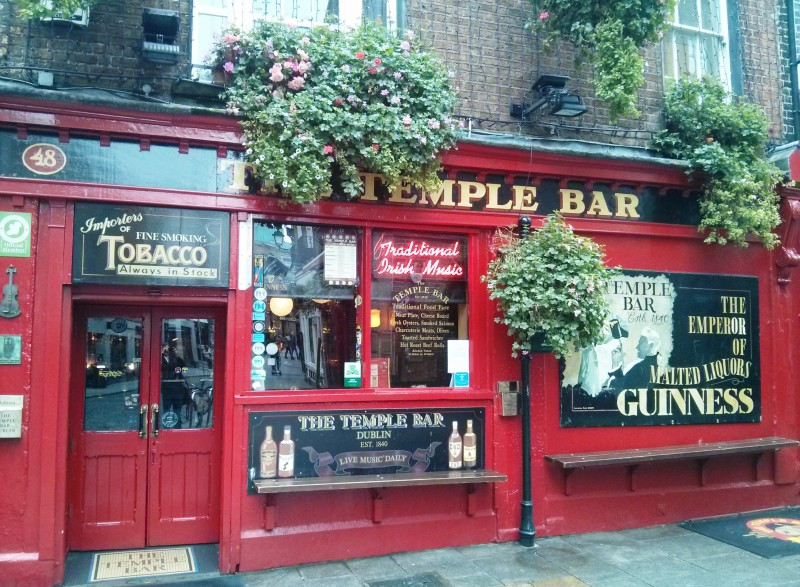The famous Temple Bar.