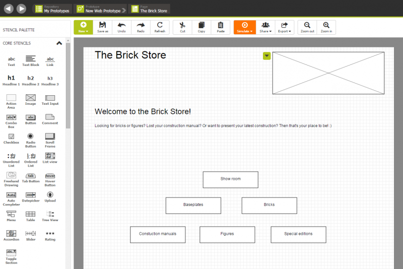 Prototype of the Brick Store