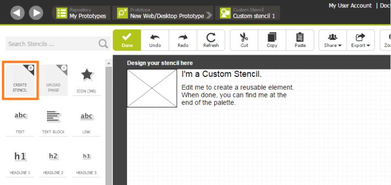 Create a custom stencil