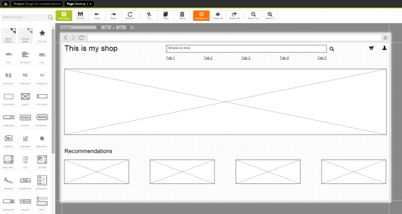 Step 3: Designing a page for the desktop version