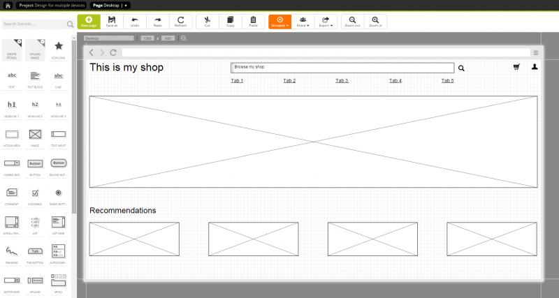 Step 3: Designing a page for the desktop version