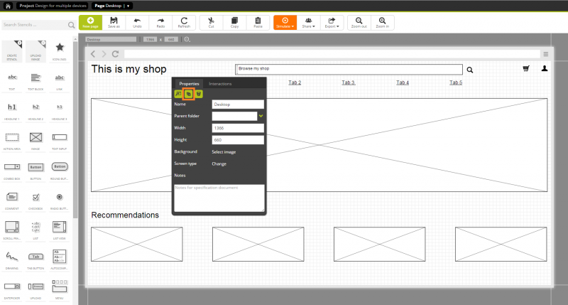 Step 4: Duplicating the desktop page as basis for the mobile version and...