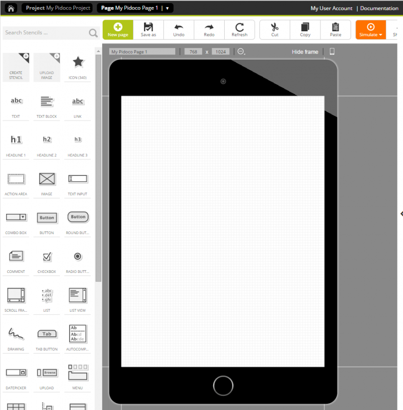 Device frames show context and give prototypes a more realistic look.