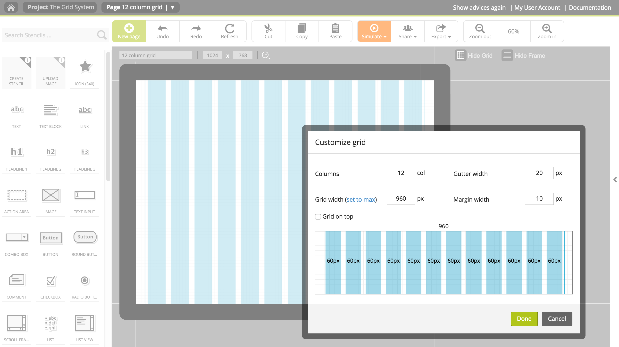 How to work with a 960 or bootstrap grid system in pidoco pidoco blog using the 12 column grid on a website project falaconquin