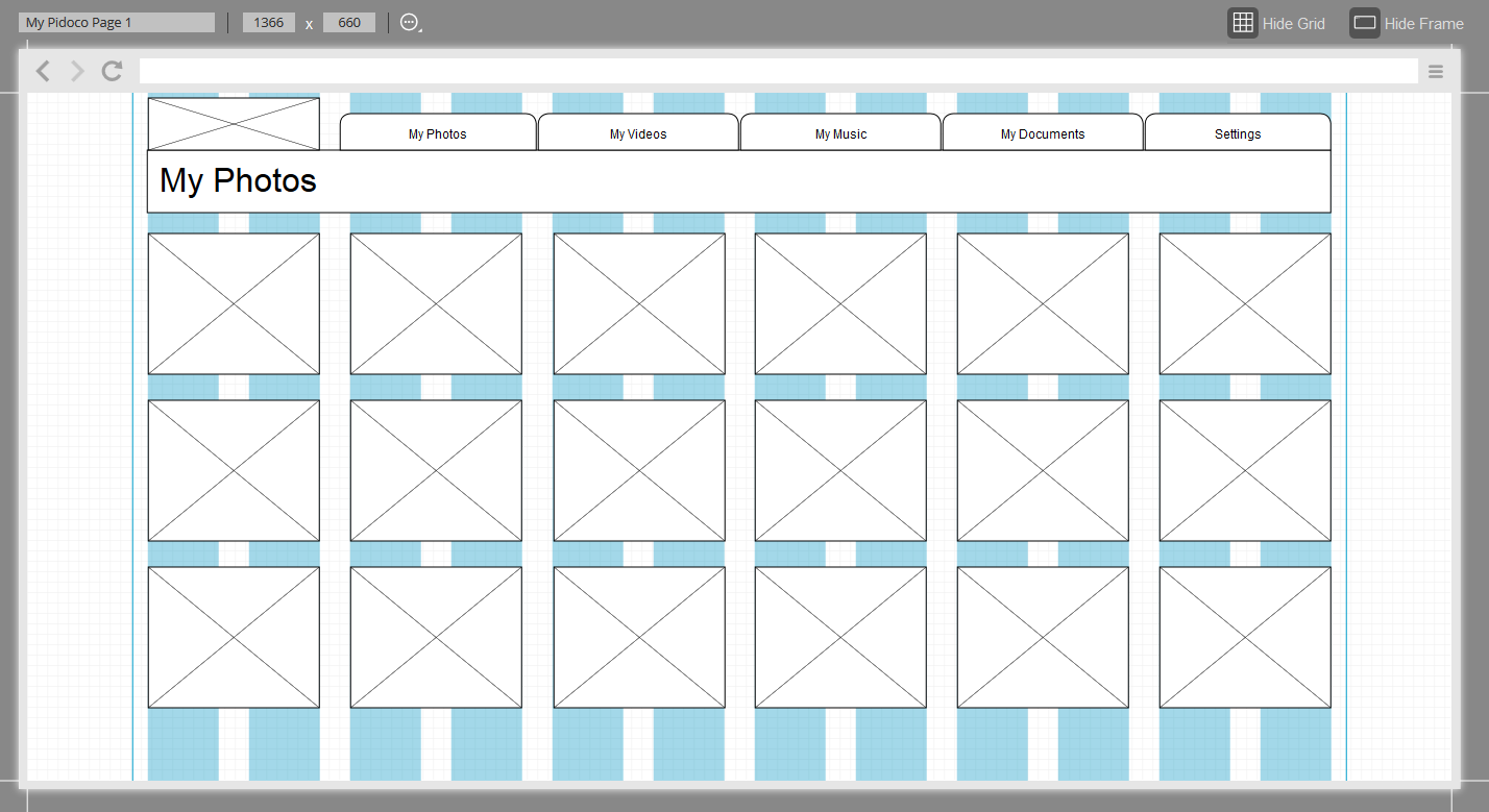 Example prototype using the bootstrap XL grid